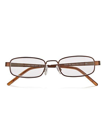 Brown Square Reading Glasses