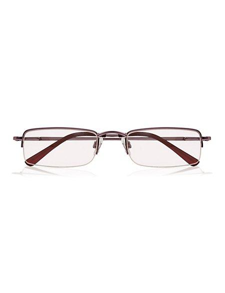 Square Half Frame Reading Glasses