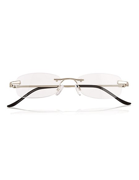 Rimless Oval Reading Glasses