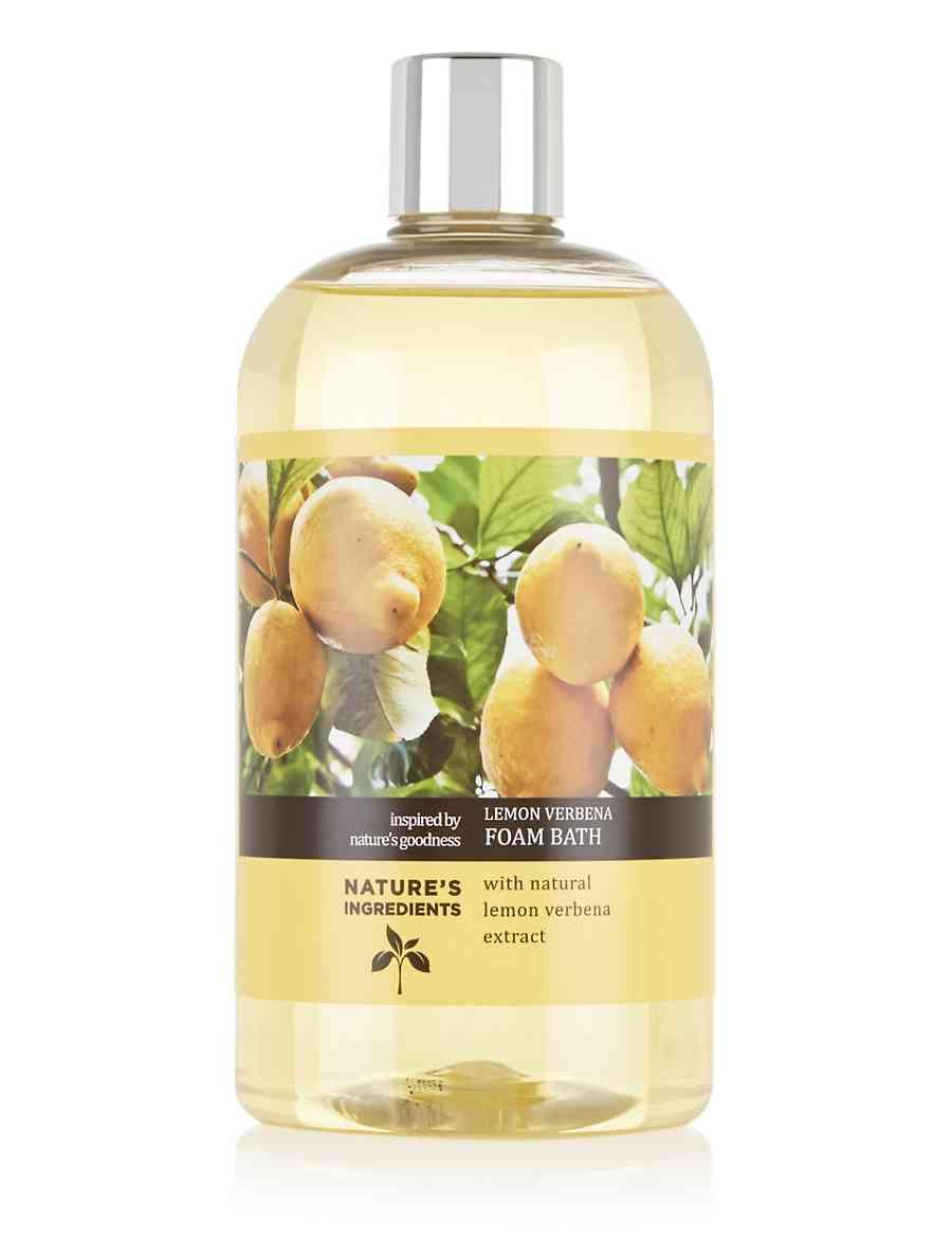 Lemon Verbena Foam Bath 500ml Natures Ingredients Ms Champagne Body