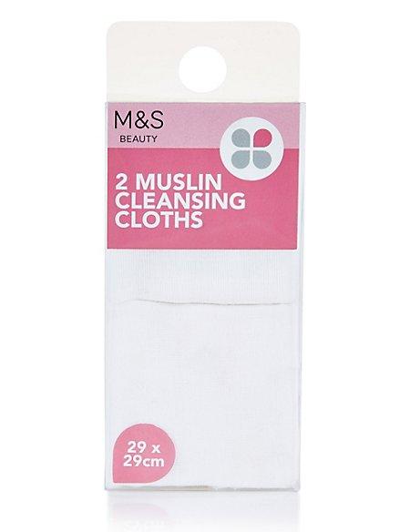 2 Muslin Cleansing Cloths