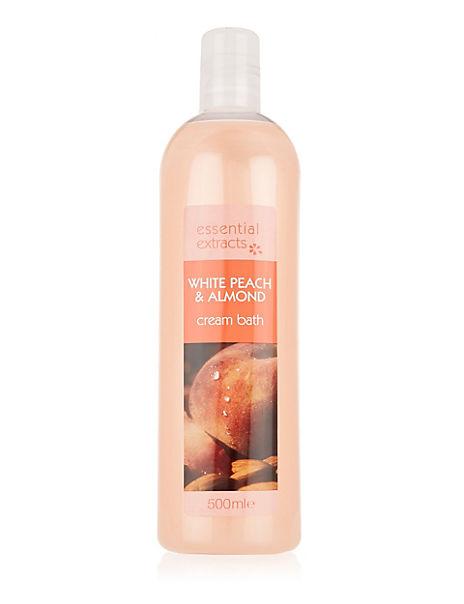 White Peach & Almond Bath Cream 500ml