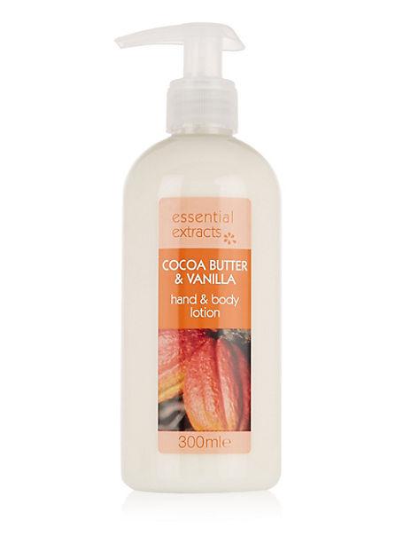 Cocoa Butter & Vanilla Hand & Body Lotion 300ml