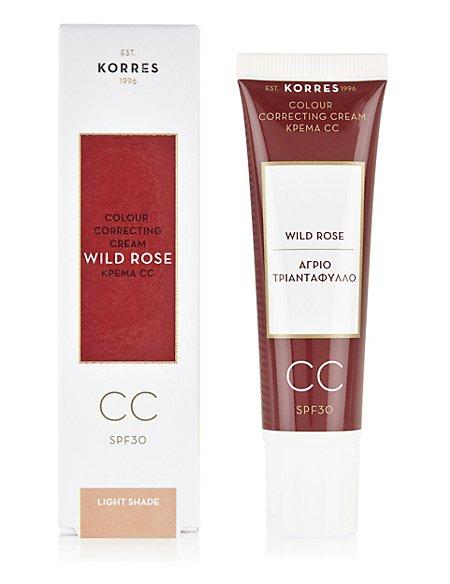 Korres Wild Rose Cc Colour Correcting Cream Spf 30 - Light Shade Cream For Women Sesame Street Nourishing Naturals Lip & Face Balm By Sesame Workshop