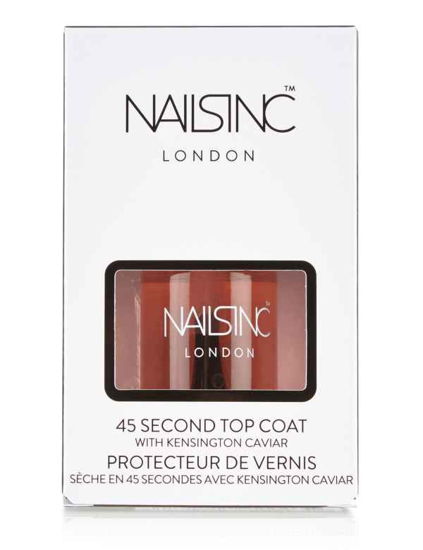 45 Seconds Top Coat with Kensington Caviar 10ml | Nails Inc. | M&S