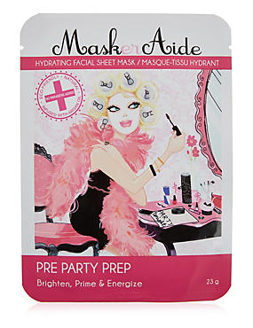 Pre Party Prep- Brighten, Prime & Energize Face Mask 23g