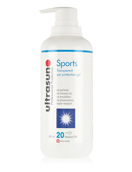 Sports Transparent Sun Protection Gel SPF 20 400ml