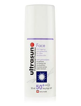 Very High Protection Face Sun Cream for Ultra-Sensitive Skin SPF50+ 50ml