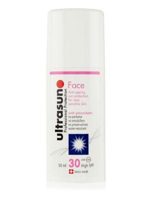 ultrasun sun cream face spf 30 100ml