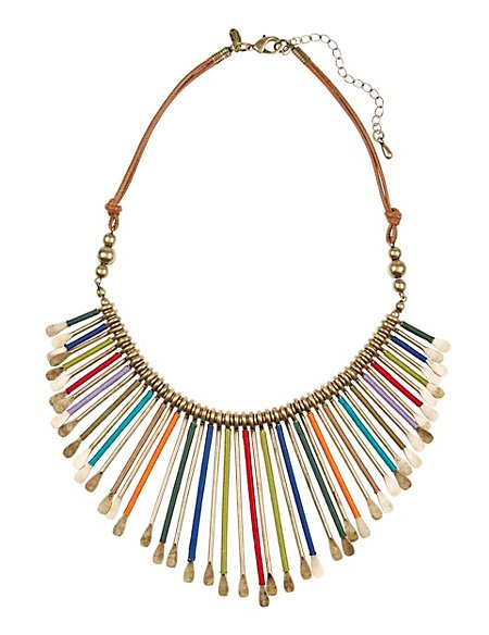 Wrapped Stick Collar Necklace