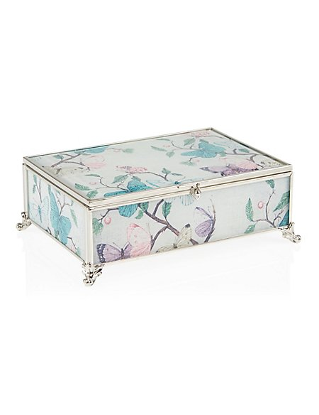 Butterfly Print Medium Jewellery Box