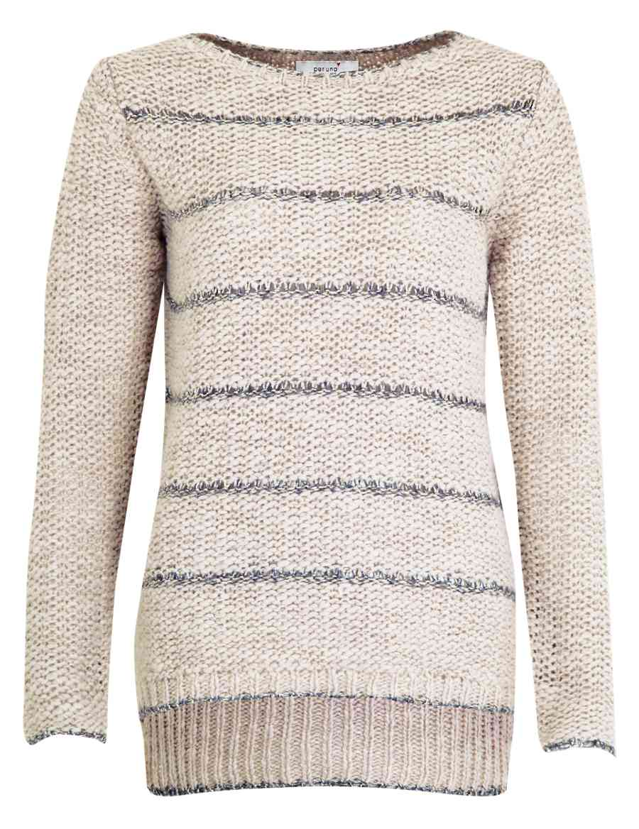 3de5add4b6 Metallic Effect Striped Knitted Top with Wool
