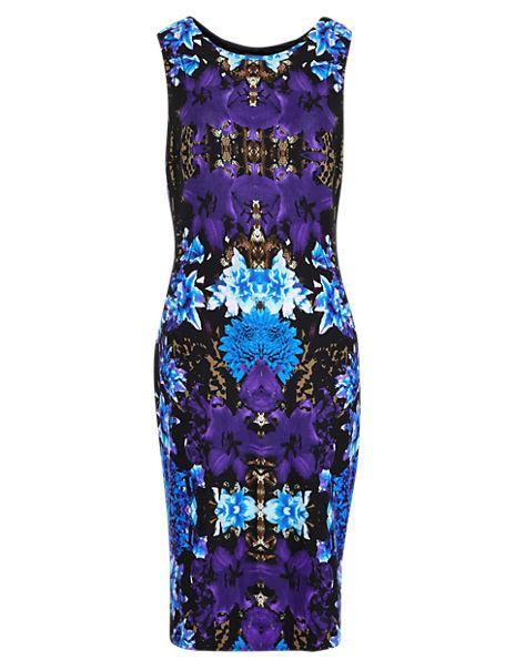 Mirror Print Bodycon Dress