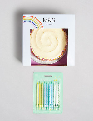 Tremendous Rainbow Birthday Cake With Candles Gift Ms Funny Birthday Cards Online Inifodamsfinfo