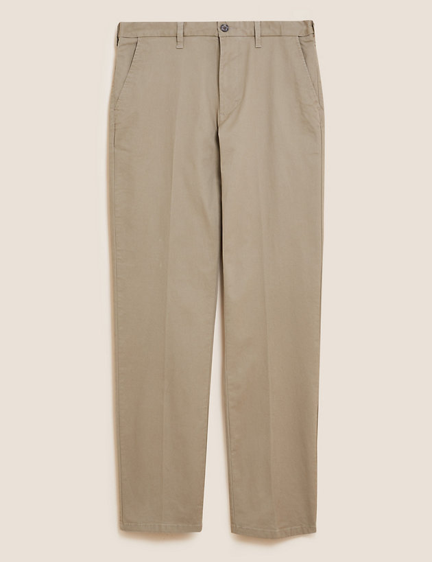 Regular Fit Cotton Rich Stretch Chinos