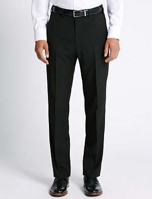7eca422c3 Regular Fit Flat Front Trousers