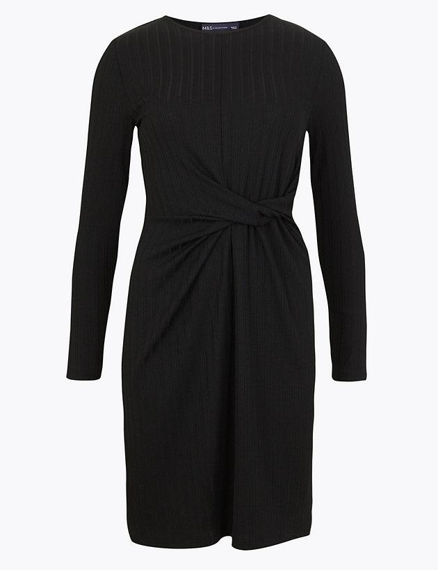 Ribbed Jersey Bodycon Mini Dress