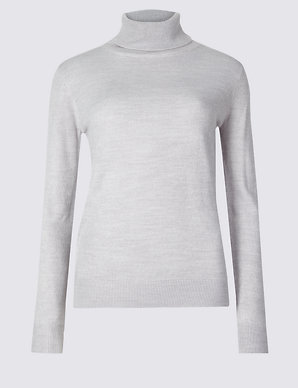 53e1bb8fb5b156 Roll Neck Jumper | M&S Collection | M&S