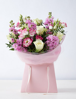 Rose & Lisianthus Gift Bag | M&S