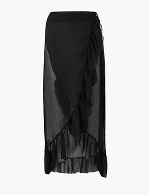 119ff0327ab5c Ruffle Beach Slip Skirt | M&S Collection | M&S