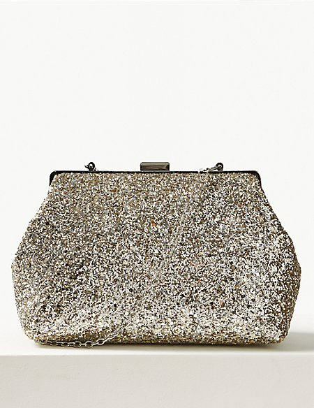 955d28399b65 Product images. Skip Carousel. Glitter Frame Clutch Bag