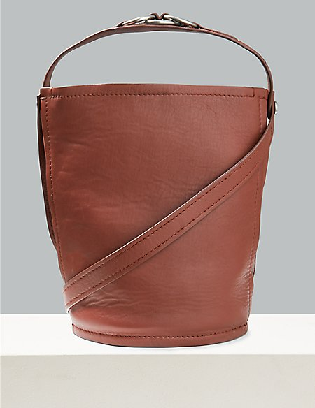 Leather Ring Cross Body Bag