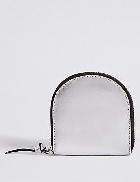 Leather Crescent Purse