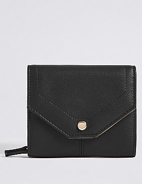 Faux Leather Soft Stud Purse