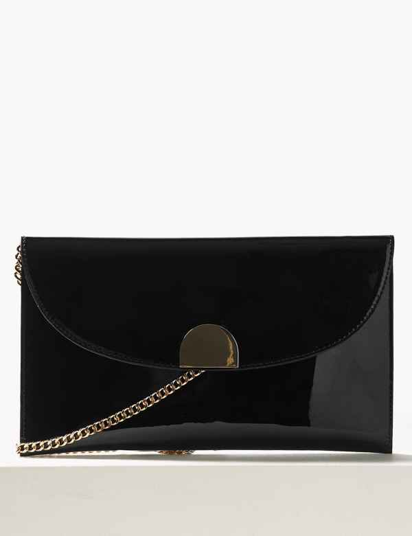 Fold Over Chain Clutch Bag 940b0ac431c59