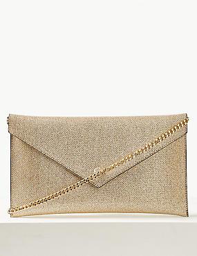 Envelope Chain Clutch Bag