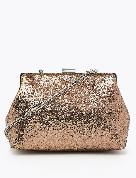 Glitter Chain Strap Shoulder Bag