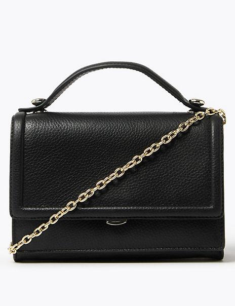 Leather Chain Strap Shoulder Bag