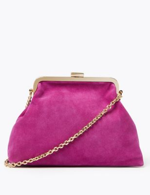 Suede Clutch Bag by Marks & Spencer