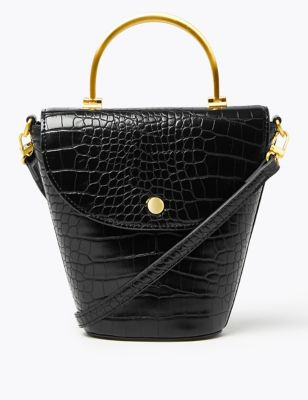 Croc Effect Cross Body Bag by Marks & Spencer
