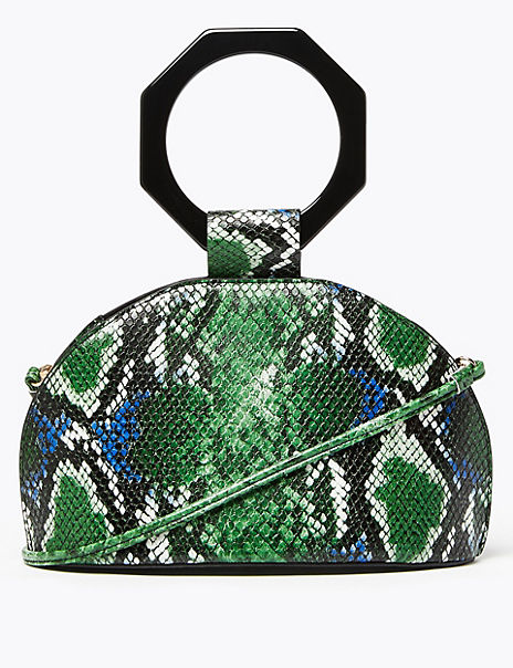 Snake Effect Cross Body Bag