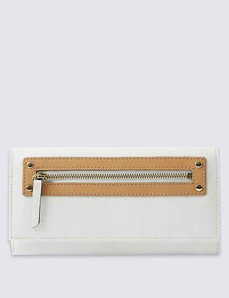 Leather Zip Detail Purse with Cardsafe™