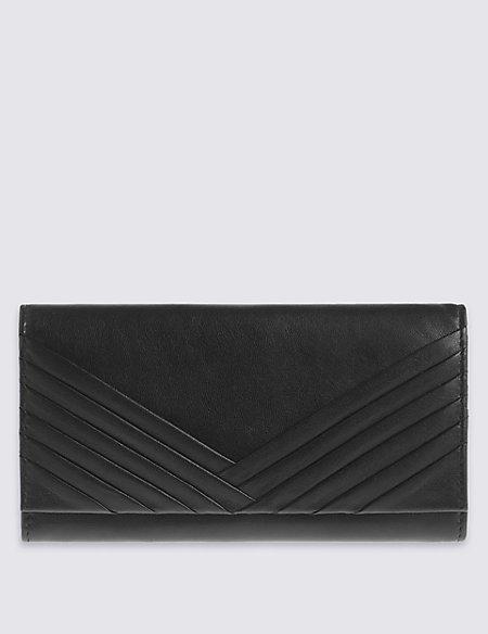 Leather Multi Pleat Purse with Cardsafe™