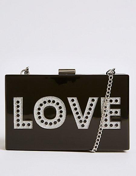 Love Box Clutch Bag