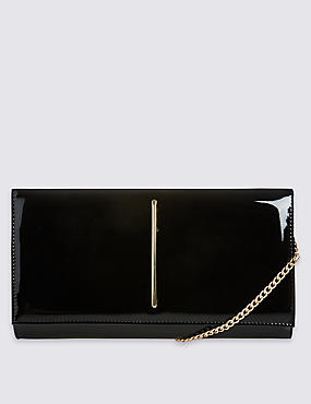 Metal Bar Clutch Bag