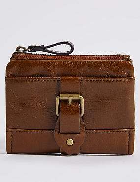 Leather Buckle Purse with Cardsafe™