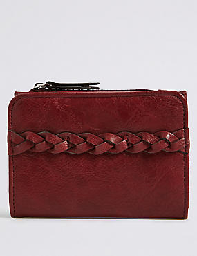 Faux Leather Plait Purse with Cardsafe™