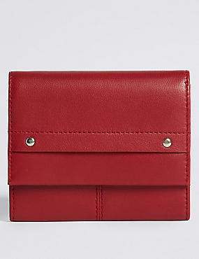 Leather Grainy Purse with Cardsafe™