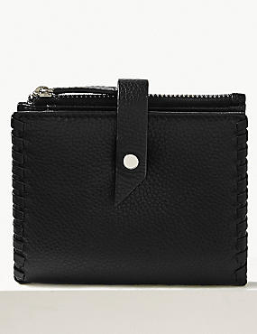 Leather Stud Fold Over Purse