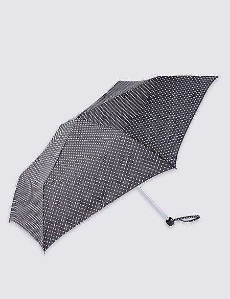 Mini Polka Dot Compact Umbrella with Stormwear™