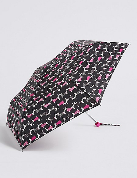 Animal Print Compact Umbrella with Stormwear™