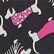 Animal Print Compact Umbrella with Stormwear™, BLACK MIX, swatch