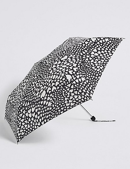 Heart Print Umbrella with Stormwear™