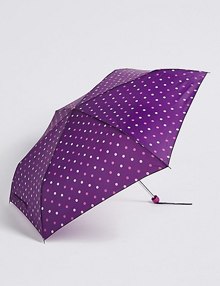 Polka Dot Compact Umbrella with Stormwear™
