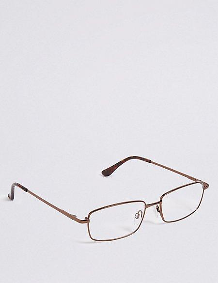 Metal Rectangle Reading Glasses
