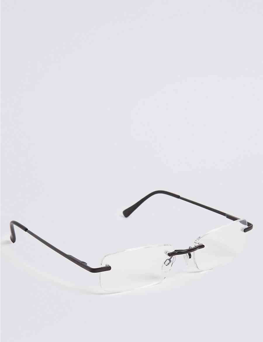 acf4ae31d53 Rimless Rectangle Reading Glasses